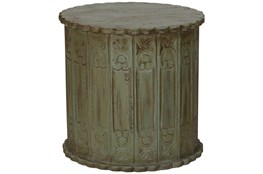 Distressed Green Accent Table