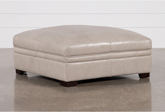 Greer Stone Large Cocktail Ottoman - 360