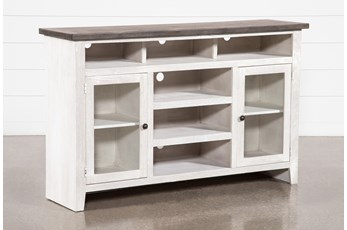 Dixon White 65 Inch Highboy TV Stand