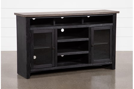 Dixon Black 65 Inch Highboy TV Stand