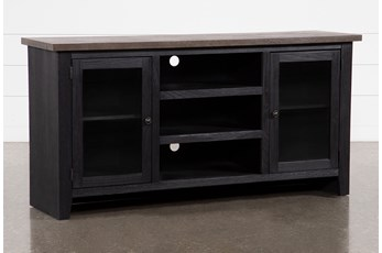 Dixon Black 65 Inch TV Stand With Glass Doors