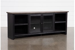 Dixon Black 84 Inch TV Stand With Glass Doors