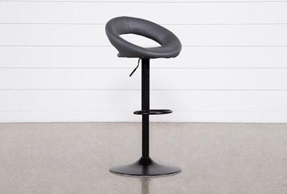 Sensational Carlo Dark Grey 33 Inch Adjustable Bar Stool Ibusinesslaw Wood Chair Design Ideas Ibusinesslaworg