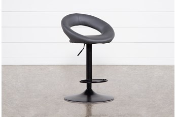 "Carlo Dark Grey 33"" Adjustable Bar Stool"