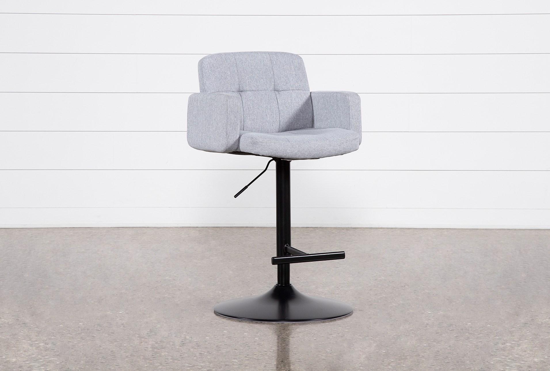 Incredible Annya Grey 31 Inch Adjustable Bar Stool Andrewgaddart Wooden Chair Designs For Living Room Andrewgaddartcom