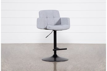 "Annya Grey 31"" Adjustable Bar Stool"
