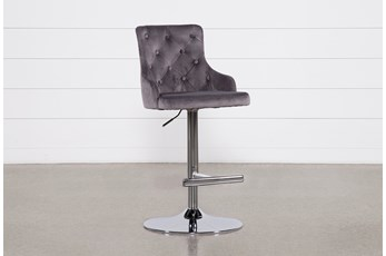 Brandi Grey 33 Inch Adjustable Bar Stool