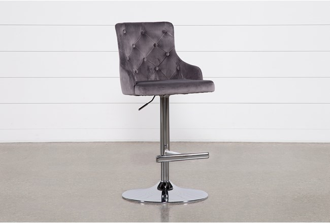 Brandi Grey 33 Inch Adjustable Bar Stool - 360