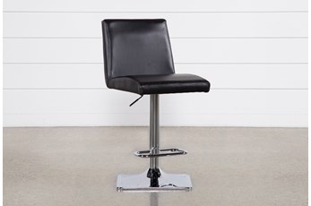 "Angelo Black 33"" Adjustable Bar Stool"
