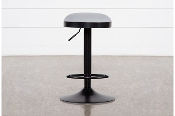 "Aria Grey 33"" Adjustable Bar Stool"