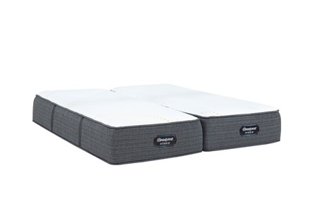 Beautyrest Hybrid Carbondale Plush California King Split Mattress Set