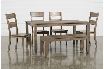 Matias Brown 6 Piece Dining Set - Main