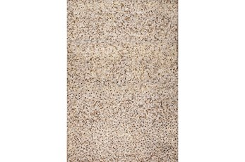 60X96 Rug-Small Sqaure Metallic Hide Ivory/Gold