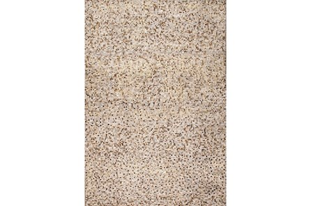 96X120 Rug-Small Sqaure Metallic Hide Ivory/Gold