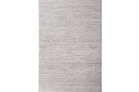 90X63 Rug-Plush Pile Striations Ivory