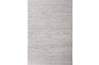 134X94 Rug-Plush Pile Striations Ivory