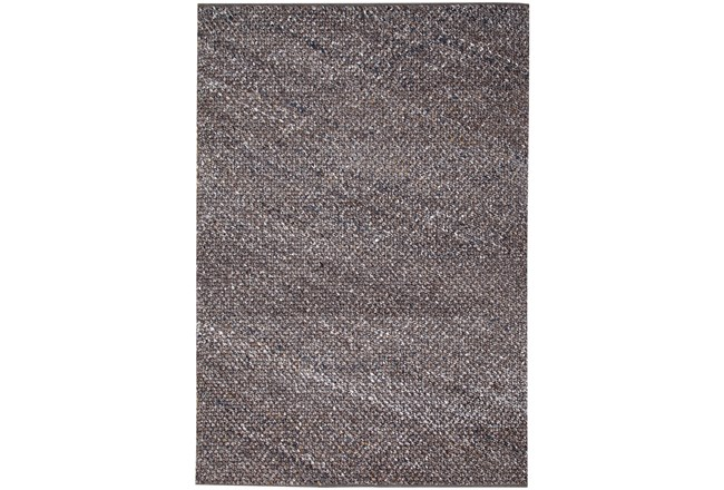 96X120 Rug-Woven Knit Wool Taupe/Mocha - 360