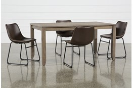 Matias Brown 5 Piece Dining Set With Cobbler Chairs