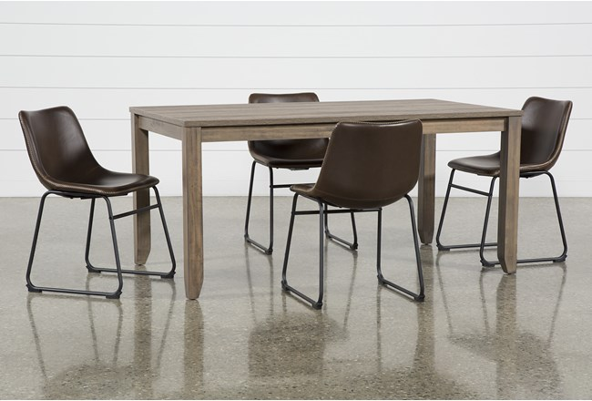 Matias Brown 5 Piece Dining Set With Cobbler Chairs - 360