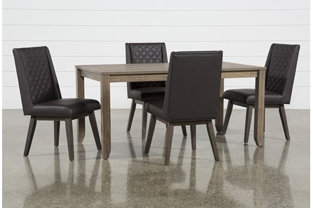 Matias Brown 5 Piece Dining Set With Links Chairs
