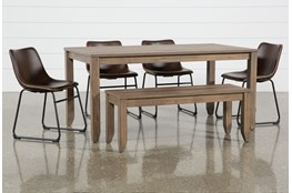 Matias Brown 6 Piece Dining Set With Cobbler Chairs