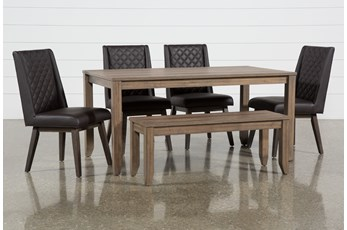 Matias Brown 6 Piece Dining Set With Links Chairs