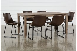 Matias Brown 7 Piece Dining Set With Cobbler Chairs