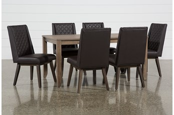Matias Brown 7 Piece Dining Set With Links Chairs