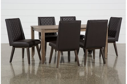 Matias Brown 7 Piece Dining Set With Links Chairs - Main
