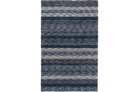 60X90 Rug-Plush Shag Striations Denim