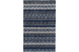 96X120 Rug-Plush Shag Striations Denim
