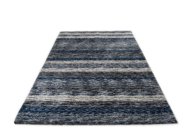 108X156 Rug-Plush Shag Striations Denim - 360