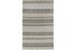 60X90 Rug-Plush Shag Striations Taupe