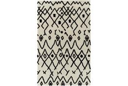 "7'2""x10' Rug-Shaggy Boho Pattern Ivory/Black"