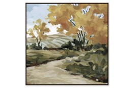 Picture-Country Path Embellished Canvas 36X36
