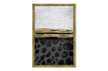Picture-Gold Accent Paper Shadowbox 24X30