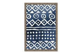 Picture-Native Blue Pattern Paper Shadowbox 24X30