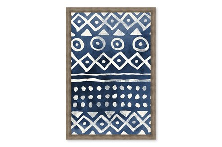 Picture-Native Blue Pattern Paper Shadowbox 24X30 - Main