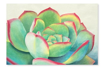 Picture-Succulent Printed On Wood 36X24