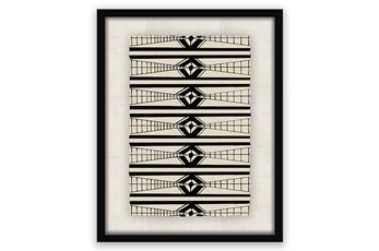 Picture-Horizontal Pattern Shadowbox 24X30