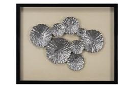 Picture-Metallic Leaves Shadowbox 24X30