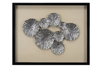 Picture-Metallic Leaves Shadowbox 24X30