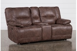 Alejandro Power Reclining Console Loveseat With Power Headrest And Usb