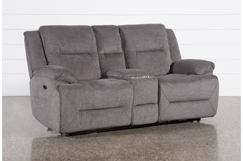 Jillian Power Reclining Console Loveseat With Usb