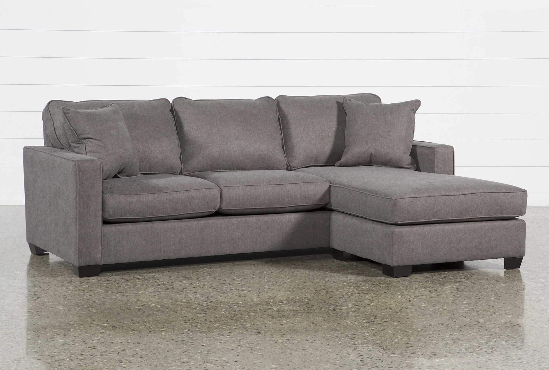 Egan Ii Charcoal 93 Sofa With Reversible Chaise Living Spaces