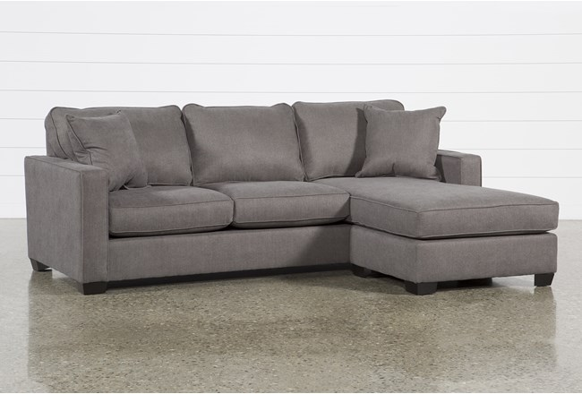 Egan II Charcoal Sofa With Reversible Chaise - 360