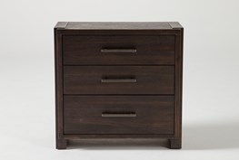 """Teagan 3-Drawer 30"""" Nightstand With USB"""