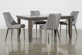 Ashford II 5 Piece Dining Set With Bowery II Chairs