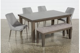 Ashford II 6 Piece Dining Set With Bowery II Chairs