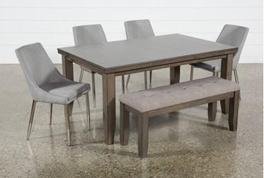 Ashford II 6 Piece Dining Set With Bowery II Chairs